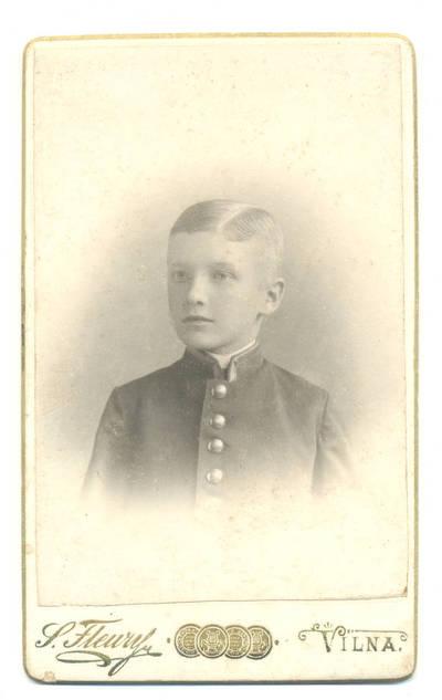 Stanislovas Filibertas Fleris. Berniuko portretas. 1900
