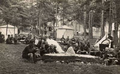 Nežinomas fotografas. Skautų sąskrydžio stovykla. 1930