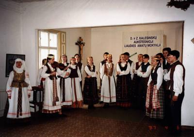 Arūnas Zalanskas. D. ir Z. Kalesinskų liaudies amatų mokykloje. 1997-04-06