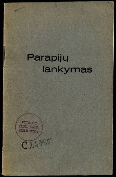 Parapijų lankymas. - 1935