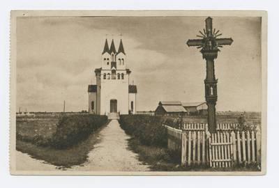 Senieji Lietuvos atvirukai ir fotografijos. Kitos Lietuvos vietovės. Die Kirche der Landwirtschaftlichen Akademie zu Dotnuva