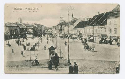 Senieji Lietuvos atvirukai ir fotografijos. Vilnius ir jo apylinkės. Вильна. Большая улица. - 1914