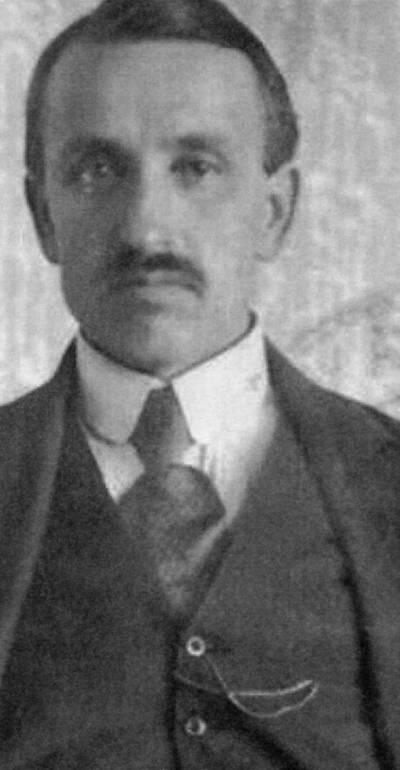 """Skaitmeninis vaizdas """"Pranas Dovydaitis (1886–1942) Kauno 1-sios valstybinės gimnazijos direktorius 1921 metais"""". 2016"""