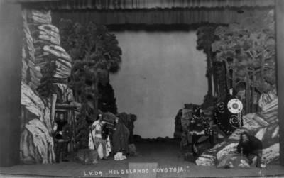 Valstybės teatro spektaklio nuotrauka.  H.Ibsenas. HELGELANDO KOVOTOJAI