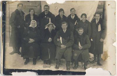 Juozas Survila. Veronikos ir Aniceto Tumasonių vestuvės. 1940