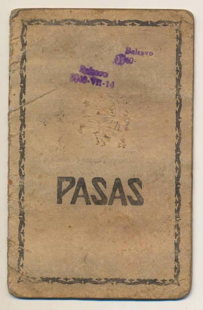 J. Sapkausko pasas. 1926-03-11