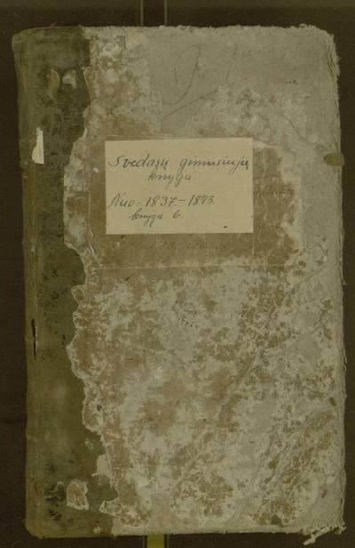 Svėdasų parapijos gimimų registracijos knyga. 1843-11-18