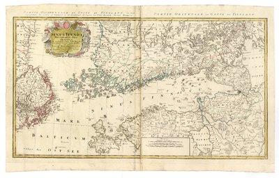 Sinus Finnici delineatio geographica ex quam plurimis subsidiis novissimis stereographicae