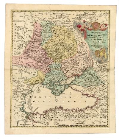 Tabula Geographica qua Pars Russiae Magnae Pontus Euxinus seu Mare Nigrum et Tauriae Regnum cum finitimis Bulgariae, Romaniae et Natolie Provinciis exhibetur