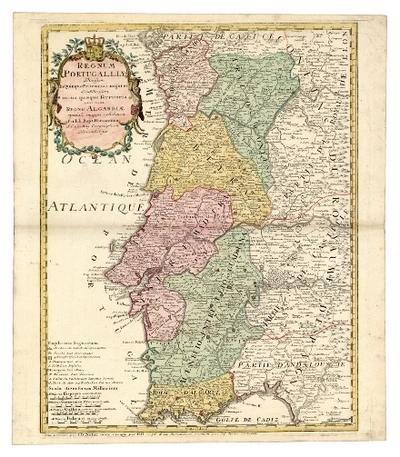 Regnum Portugalliae divisum in quinque provinciaa majores & subdivisum in sua quaeque territoria una cum Regno Algabriae speciali mappa exhibitum