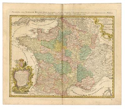 Tres nouvelle Carte du Royaume de France divise en toutes ses Provinces et Gouvernement, drese'e sur une nouvelle Oservation Astronomique faite auc environ du Globe, assuje tie aux memoires du feu M. Cassini de Thury, dans toute la France, avec Privileg. Imperial =