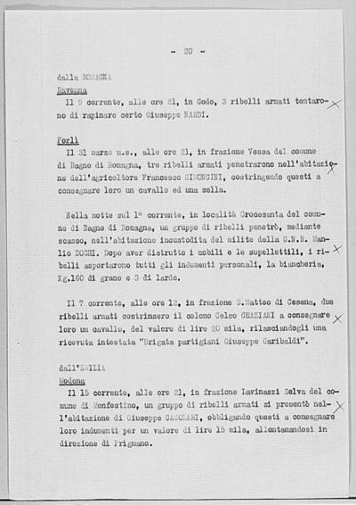 Notizia tratta dal Notiziario della Guardia Nazionale Repubblicana del giorno 20-04-1944
