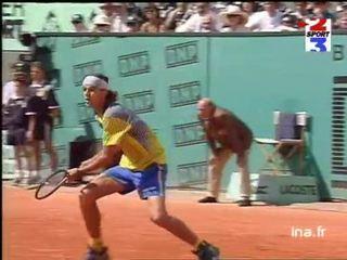 Finale messieurs à Roland Garros : Deuxième set Gustavo Kuerten face à Bruguera