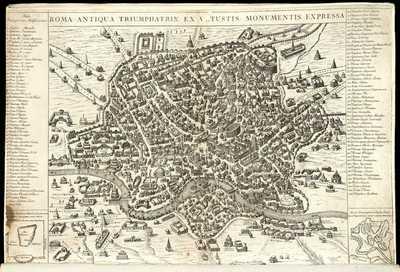 Roma antiqua triumphatrix ex vetustis monumentis expressa / [Giacomo Lauro]
