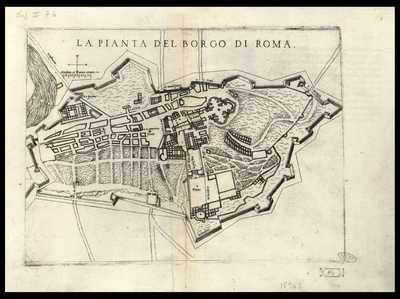 La pianta del borgo di Roma