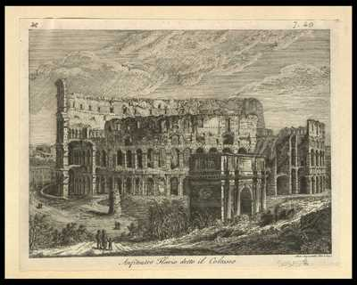 Anfiteatro Flavio detto il Colosseo / Ant. Aquaroni dis. e inc.