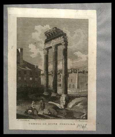 Tempio di Giove Statore / F. Cicconetti dis. , A. Moschetti inc.