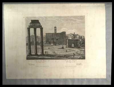 Vue du Forum Romanum dit Campo Vaccino / A. Parboni inc