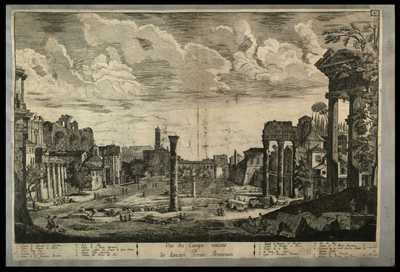Vue du Campo vaccino ou de l'ancien Forum Romanum / Gio. Bru. del