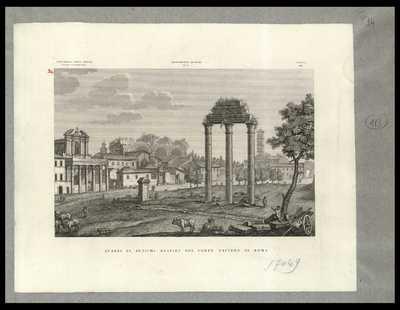 Avanzi di antichi edifizj del Campo Vaccino in Roma