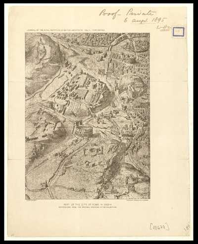 Part of the city of Rome in 1562 - A : reproduced from the original drawing in the collection / [Dosio]