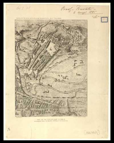 Part of the city of Rome in 1562 - B : reproduced from an original drawing in the Burlington Devonshire collection / [Dosio]