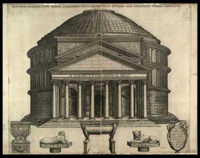 Pantheum romanum nunc Mariae cognomento rotundae notum ad antiquam suam effigiem et formam expressum / Ant. Lafreri