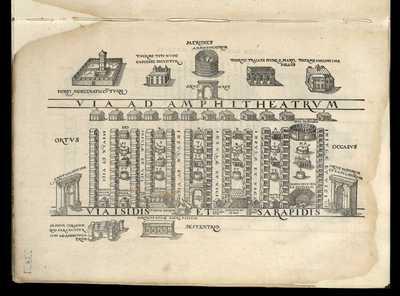 Via ad Amphitheatrum , Via Isidis et Sarapidis / [M. Fabio Calvo]