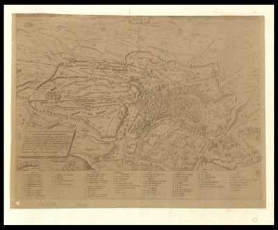 [Pianta di Roma nel 1561 disegnata da Giovanni Dosio, incisa da Sebastiano Del Re]