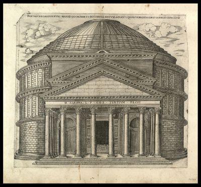 Pantheum romanum nunc Mariae cognomento rotumdae notum ad antiquam suam effigiem formam expressum / [Ambrogio Brambilla] , [Claudio Duchetti]