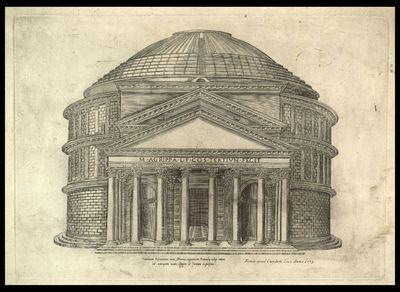 Pantheum romanum nunc Mariae cognomento rotumdae notum ad antiquam suam effigiem formam expressum / [Nicolas Beatrizet]