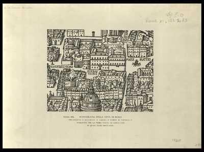 Iconografia della città di Roma delineata e scolpita in legno a' tempo di Paulo 5