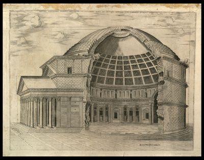 Panthei fidelissime dimensi exterior et interior pars ex antiquo romano suis omnibus numeris absoluta / Henricus van Schoel excudit , Ant. Lafrerii