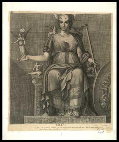 Pallas : D'Après une peinture antique qui est au Palais Barberini à Rome ... / gravé par Jean Jerome Frezza
