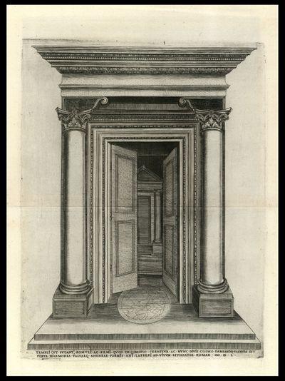 Templi (vt putant) Romuli ac Remi quod in comitio cernitur ac nunc diuis Cosmo Damianoque sacrum est porta marmorea valuaeque aheneae