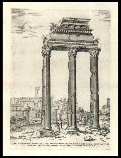 Porticus templi Iulii columnae tres cum epistylii parte ita vt in foro rom. fissuris scilicet fracturisque deformes extant