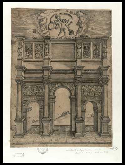 Arco de Constantino / [Agostino Veneziano]
