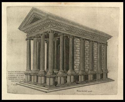 Templum fortunae virilis ad ripas Tiberis in foro Piscario nunc Mariae Aegiptiacae sacratum / N. B. f