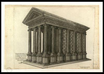 Templum fortunae virilis ad ripas Tiberis in foro Piscario nunc Mariae Aegiptiacae sacratum / N. B. f.