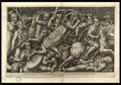 Tabula marmorea, pugnae Dacicae, ex diruto Traiani, ut putatur, arcu, in Constantini cognomento Magni, qua spectat Aventinum, ornatus caussa, Romae translata/ NB