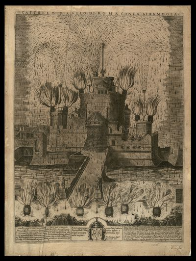 Castello S. Angelo di Roma con la girandola