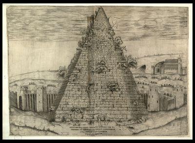 Sepulchrum C. Cesti Epulonis Ostiensi via et pyramide et marmori quadrato nobililissimum atque omnium vetustissimum