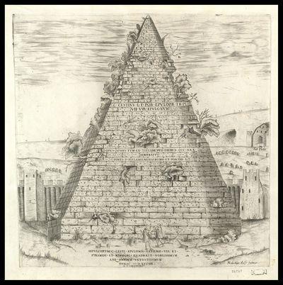 Sepulchrum C. Cesti Epulonis Ostiensi via et pyramide et marmori quadrato nobilissimum atque omnium vetustissimum