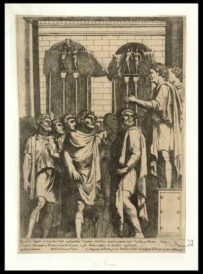 Traiano ritornato a Roma promette la pace a gli ambasciadori de barbari suplicanti / Matteo Piccione Fecit
