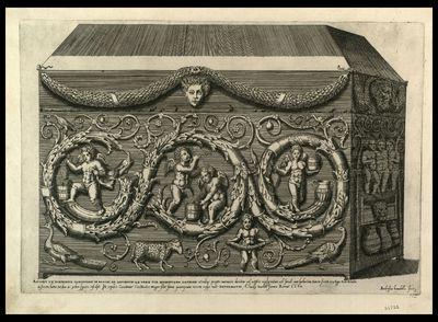 Antiqui ex porphyrite sarcophagi in Bacchi ad secundum ab vrbe via Nomentana lapidem ... / Ambrosius Brambilla fecit