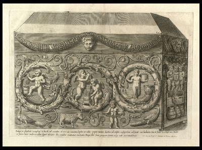 Antiqui ex porphyrite sarcophagi in Bacchi ad secundum ab urbe via Nomentana lapidem ...