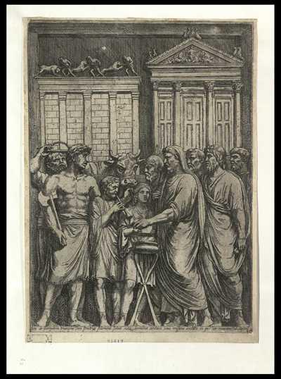 Acto de Germanis Triumpho Ioui feretria solemnia soluit vota leonibus ... / FP
