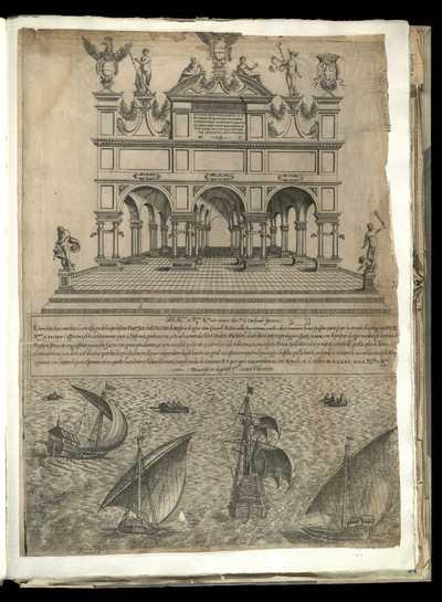 [Arco di trionfo fatto dalla città di Messina per l'entrata di Giovanni d'Austria]