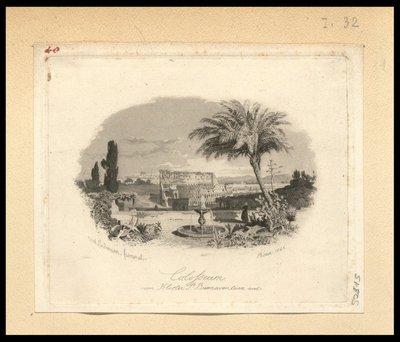 Colosseum vom Kloster s.t Buonaventura aus / Karl Lindemann Frommel