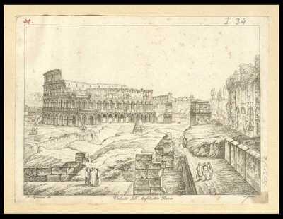 Veduta dell'anfiteatro Flavio / A. Aquaroni dis. e incise